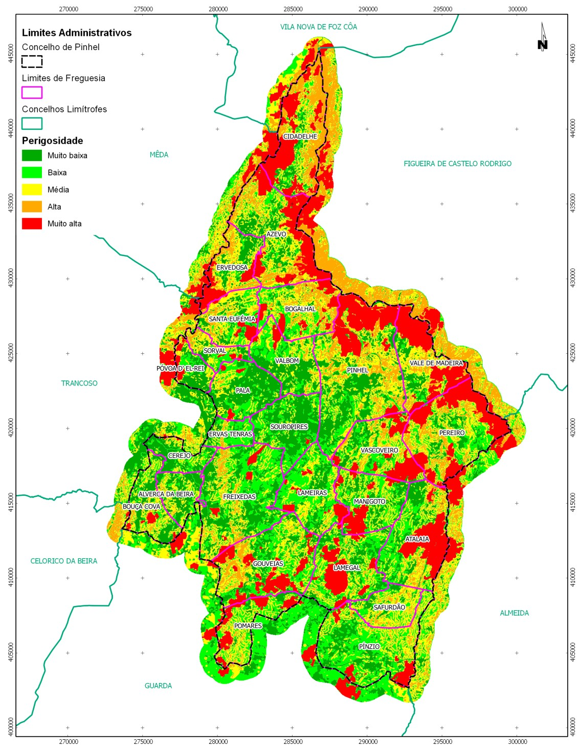 QGIS and Forest Fire Risk Mapping in Portugal